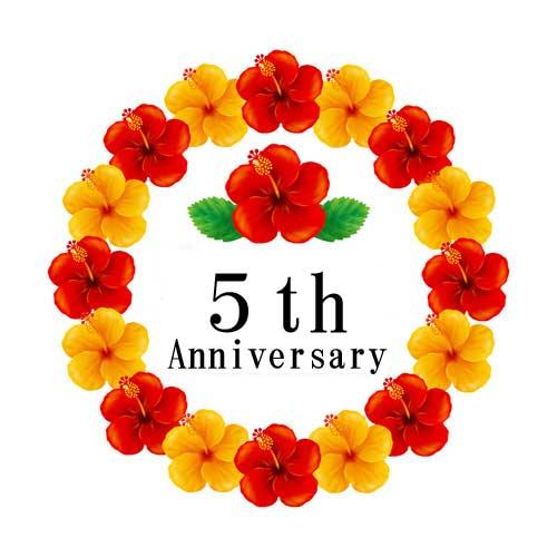 サロンHILO5周年記念